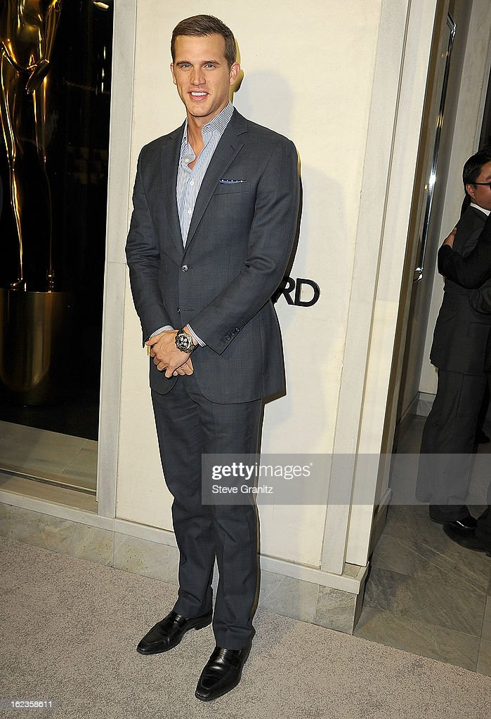 Matt Nordgren arrives at the Tom Ford Cocktails In Support Of Project Angel Food at TOM FORD on February 21, 2013 in Beverly Hills, California.