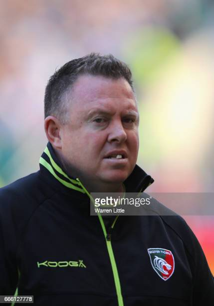 Matt O'Connor Head Coach of Leicester Tigers looks in ahead of the Aviva Premiership match between Bath Rugby and Leicester Tigers at Twickenham...