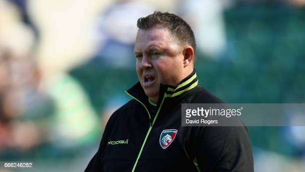 Matt O'Connor the Leicester Tigers head coach looks on during the Aviva Premiership match between Bath and Leicester Tigers at Twickenham Stadium on...