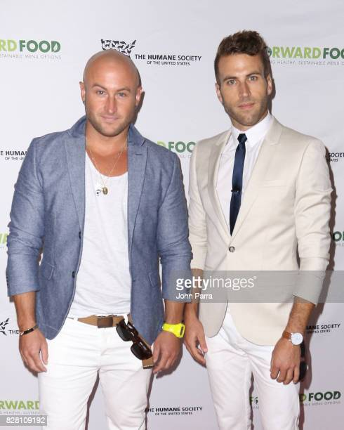 Matt Phil Vegan Bros attend the Salud A Forward Food Culinary Celebration in collaboration with The Humane Society of the United States at Brown...