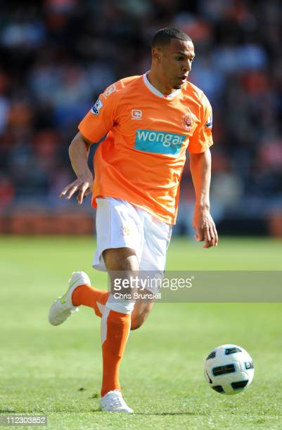 Matt Phillips of Blackpool in action during the Barclays Premier League match between Blackpool and Wigan Athletic at Bloomfield Road on April 16...