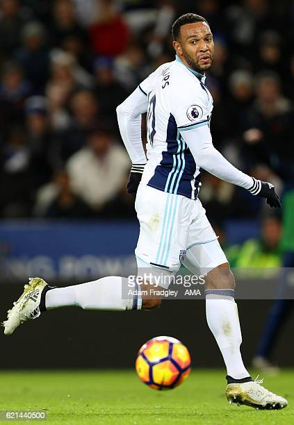 Matt Phillips of West Bromwich Albion scores a goal to make it 12 during the Premier League match between Leicester City and West Bromwich Albion at...