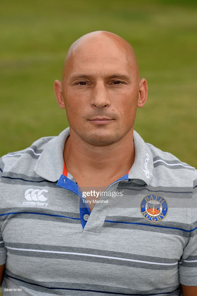 Matt Pickard Strength and Conditioning Coach poses for a portrait during the Bath Rugby squad photo call for the 20162017 Aviva Premiership Rugby...