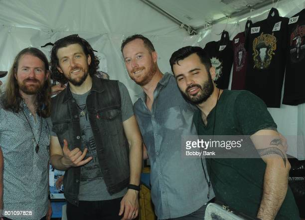 Matt Pillion Larry Shotter Jack Zaferes and Kevin Cunningham of Stolen Rhodes band perform at the 8th Annual Rock Ribs Ridges Festival at Sussex...