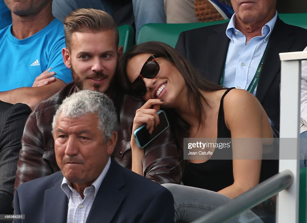 <a gi-track='captionPersonalityLinkClicked' href=/galleries/search?phrase=Matt+Pokora&family=editorial&specificpeople=815249 ng-click='$event.stopPropagation()'>Matt Pokora</a> aka M Pokora and his girlfriend attend Gael Monfils' match on Day 9 of the French Open 2014 held at Roland-Garros stadium on June 2, 2014 in Paris, France.