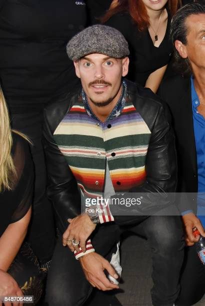 Matt Pokora and Identik team members attend 'Identik' by M Pokora Launch Party at Duplex Club on September 17 2017 in Paris France