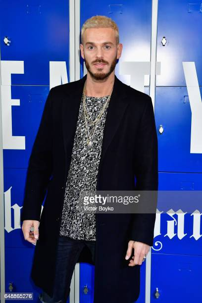 Matt Pokora attends FENTY PUMA by Rihanna Fall / Winter 2017 Collection at Bibliotheque Nationale de France on March 6 2017 in Paris France