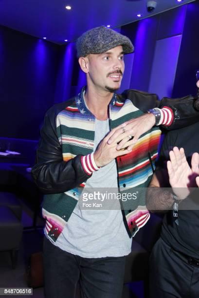 Matt Pokora attends 'Identik' by M Pokora Launch Party at Duplex Club on September 17 2017 in Paris France