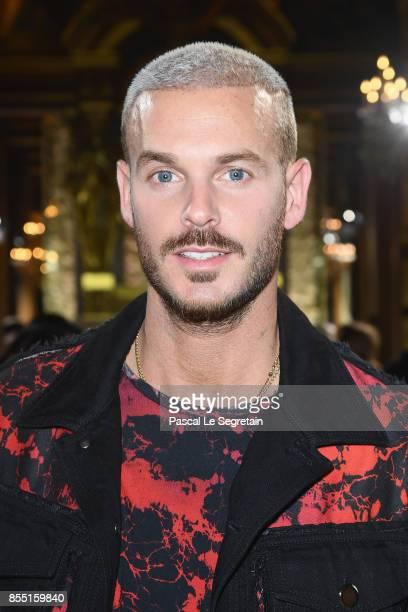 Matt Pokora attends the Balmain show as part of the Paris Fashion Week Womenswear Spring/Summer 2018 on September 28 2017 in Paris France