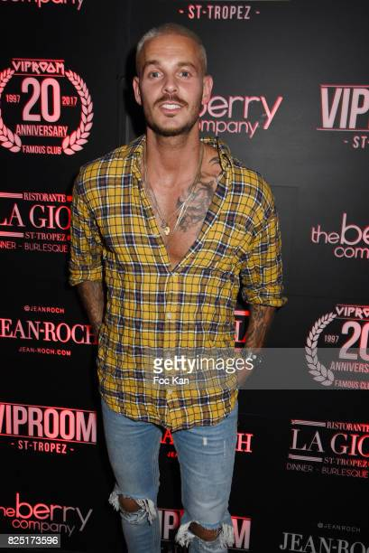 Matt Pokora attends the Huko DJ Set Party at VIP Room Saint Tropez on July 31 2017 in SaintTropez France