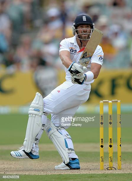 Matt Prior of England bats during day four of the Second Ashes Test Match between Australia and England at Adelaide Oval on December 8 2013 in...