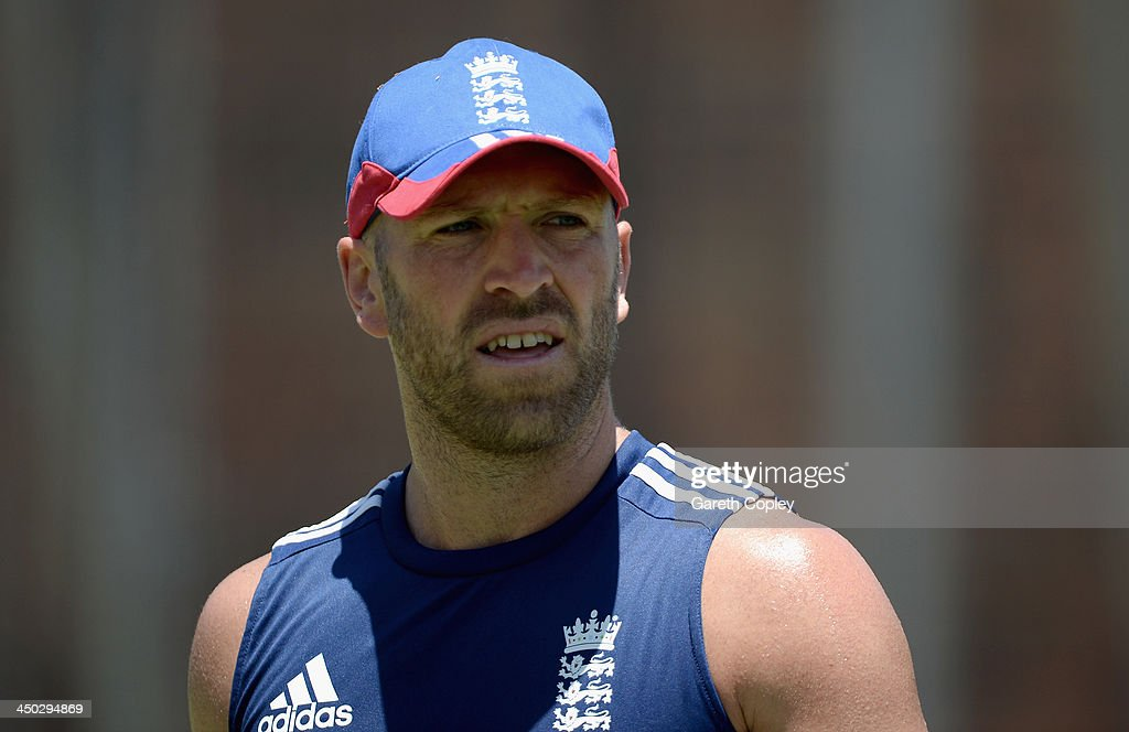 Matt Prior of England during an England nets session at The Gabba on November 18, 2013 in Brisbane, Australia.