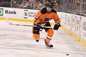 Matt Read of the Philadelphia Flyers skates against the Boston Bruins at the TD Garden on March 7 2015 in Boston Massachusetts