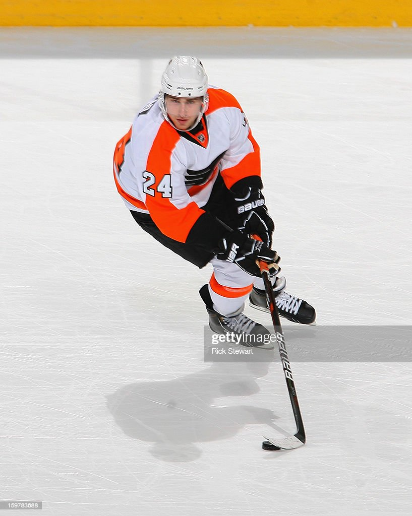 <a gi-track='captionPersonalityLinkClicked' href=/galleries/search?phrase=Matt+Read&family=editorial&specificpeople=6783206 ng-click='$event.stopPropagation()'>Matt Read</a> #24 of the Philadelphia Flyers skates against the Buffalo Sabres at First Niagara Center on January 20, 2013 in Buffalo, United States.