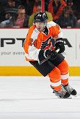 Matt Read of the Philadelphia Flyers skates against the Vancouver Canucks on January 15 2015 at the Wells Fargo Center in Philadelphia Pennsylvania