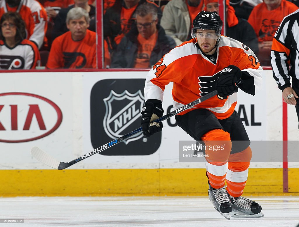 Matt Read of the Philadelphia Flyers skates against the Washington Capitals in Game Six of the Eastern Conference First Round during the 2016 NHL...