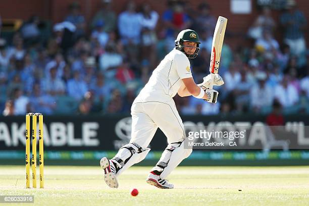 Matt Renshaw of Australia bats during day four of the Third Test match between Australia and South Africa at Adelaide Oval on November 27 2016 in...