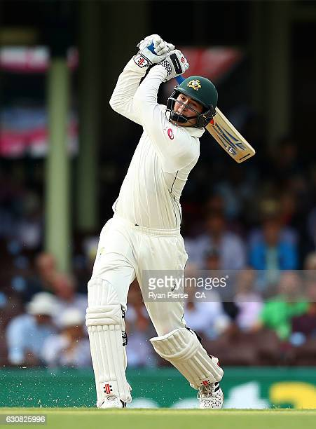 Matt Renshaw of Australia bats during day one of the Third Test match between Australia and Pakistan at Sydney Cricket Ground on January 3 2017 in...