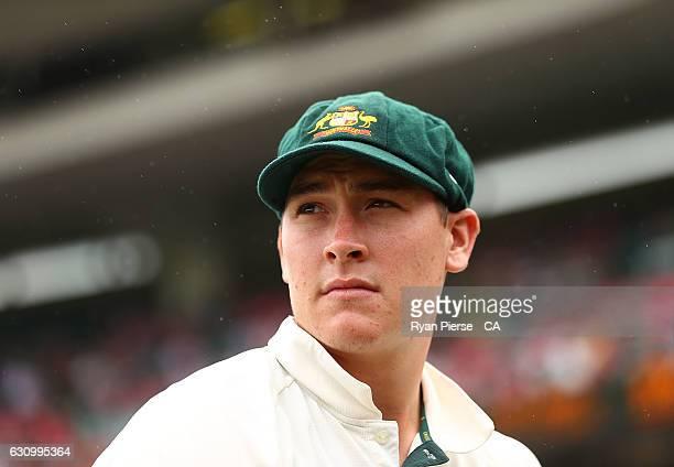 Matt Renshaw of Australia looks on during day three of the Third Test match between Australia and Pakistan at Sydney Cricket Ground on January 5 2017...