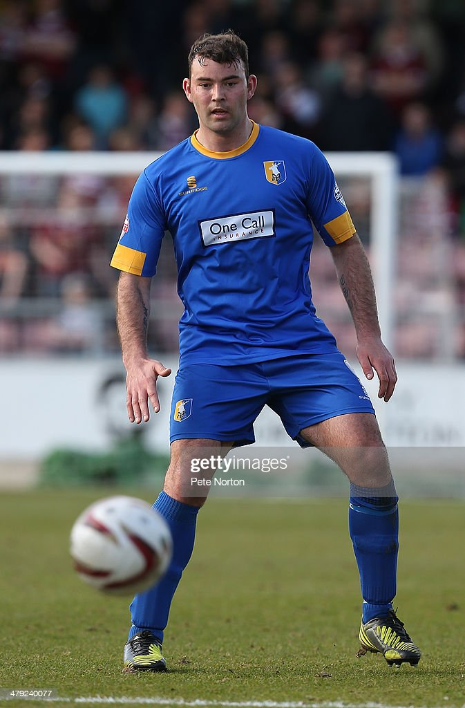 Matt Rhead of Mansfield Town in action during the Sky Bet League Two match between Northampton Town and Mansfield Town at Sixfields on March 15, 2014 in Northampton, England.