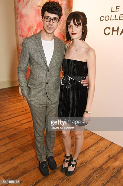 Matt Richardson and Sam Rollinson attend the launch of Lucia Pica's makeup collection for Chanel at Somerset House on June 23 2016 in London England