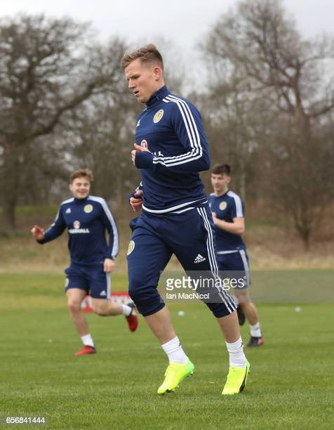 Matt Ritchie is seen during a training session at Mar Hall on March 23 2017 in Erskine Scotland