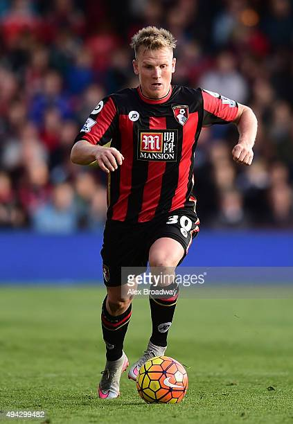 Matt Ritchie of AFC Bournemouth in action during the Barclays Premier League match between AFC Bournemouth and Tottenham Hotspur at Vitality Stadium...