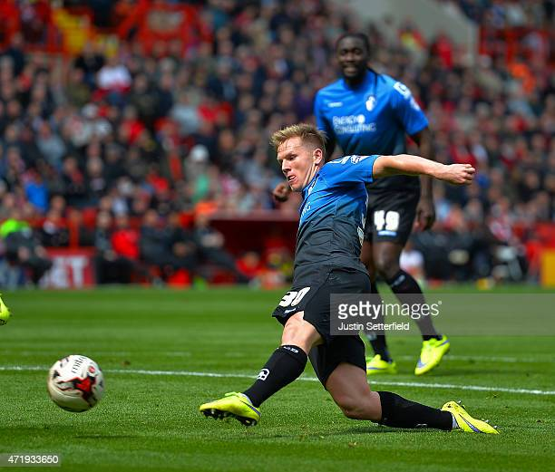 Matt Ritchie of AFC Bournemouth scores the 3rd Bournemouth goal during the Sky Bet Championship match between Charlton Athletic and AFC Bournemouth...