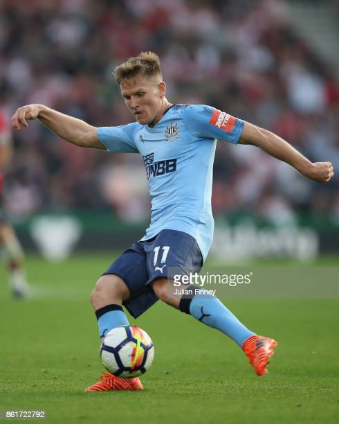 Matt Ritchie of Newcastle in action during the Premier League match between Southampton and Newcastle United at St Mary's Stadium on October 15 2017...