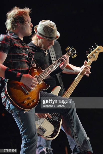 Matt Roberts and Todd Harrell of 3 Doors Down performs at Rupp Arena on October 1 2011 in Lexington Kentucky