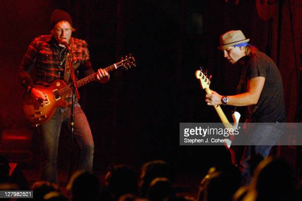 Matt Roberts and Todd Harrell of 3 Doors Down performs at The Woods at Fontanel on October 2 2011 in Nashville Tennessee