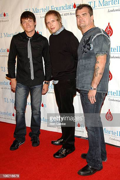 Matt Roberts Todd Harrell and Chris Henderson of 3 Doors Down attend the 35th Annual Awards Gala hosted by the TJ Martell Foundation at Marriot...