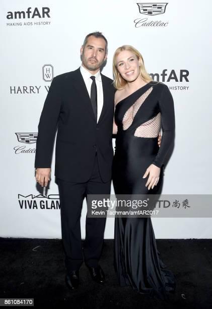 Matt Robinson and Natasha Bedingfield at amfAR Los Angeles 2017 at Ron Burkle's Green Acres Estate on October 13 2017 in Beverly Hills Californi