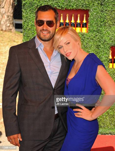 Matt Robinson and Natasha Bedingfield attend the 2nd Annual Veuve Clicquot Polo Classic held at Will Rogers State Historic Park on October 9 2011 in...