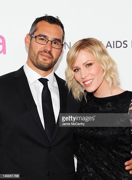 Matt Robinson and singer Natasha Bedingfield arrive at the 20th Annual Elton John AIDS Foundation Academy Awards Viewing Party at The City of West...