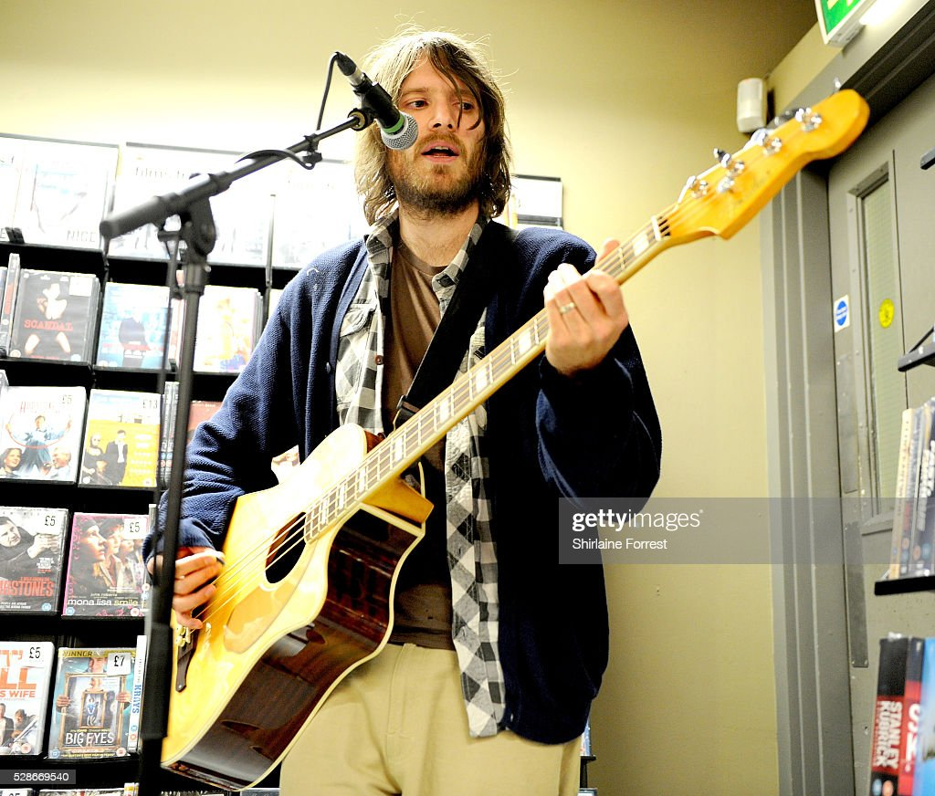 Matt Rose of The Virginmarys performs live and signs copies of their new album 'Divides' at Fopp on May 6, 2016 in Manchester, England.