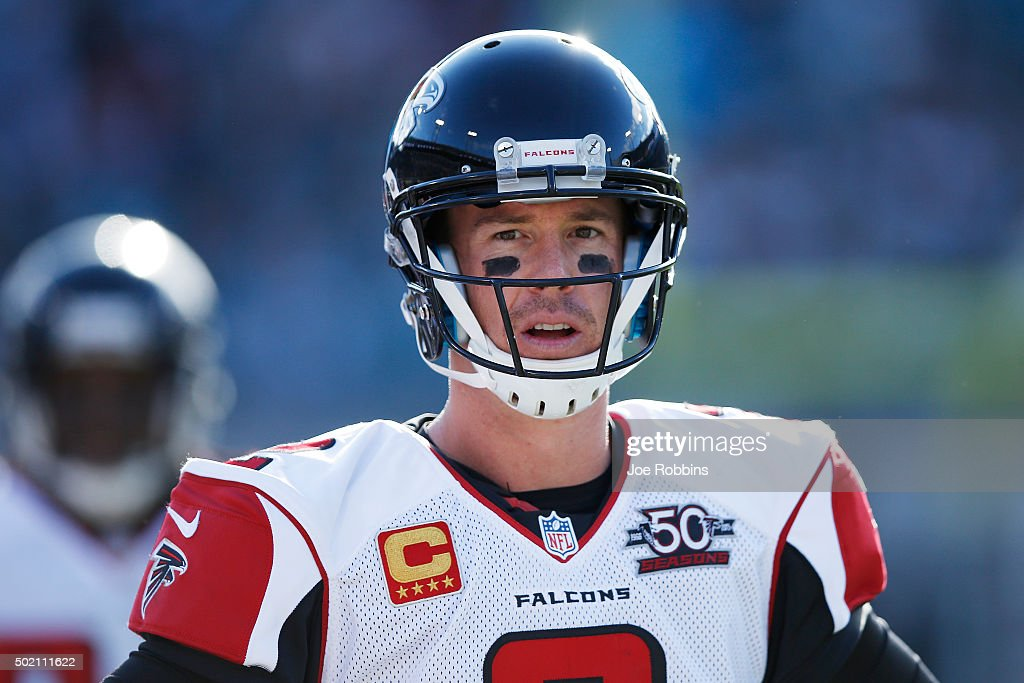 <a gi-track='captionPersonalityLinkClicked' href=/galleries/search?phrase=Matt+Ryan+-+Football+am%C3%A9ricain&family=editorial&specificpeople=4951318 ng-click='$event.stopPropagation()'>Matt Ryan</a> #2 of the Atlanta Falcons looks on against the Jacksonville Jaguars in the second half of the game at EverBank Field on December 20, 2015 in Jacksonville, Florida. The Falcons defeated the Jaguars 23-17.