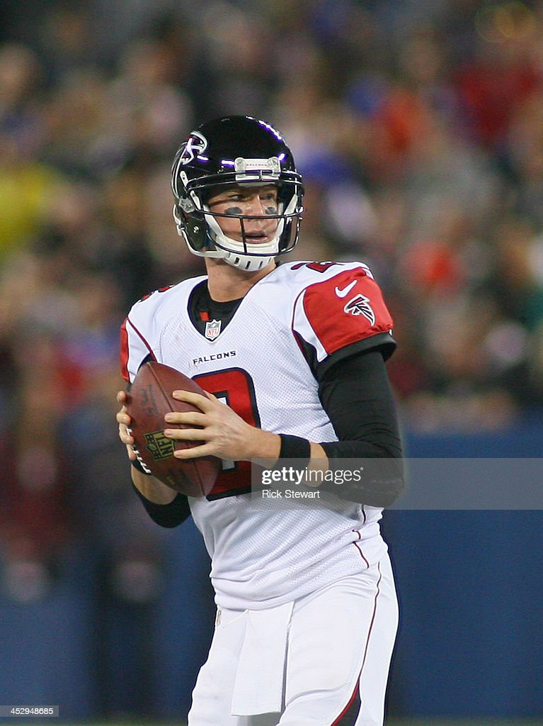 Matt Ryan #2 of the Atlanta Falcons looks to throw against the Buffalo Bills at Rogers Centre on December 1, 2013 in Toronto, Ontario. Atlanta won 34-31 in overtime.