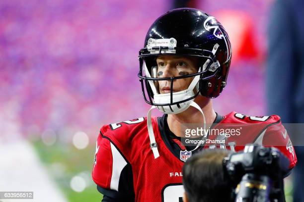 Matt Ryan of the Atlanta Falcons walks off the field after losing to the New England Patriots 3428 in overtime during Super Bowl 51 at NRG Stadium on...