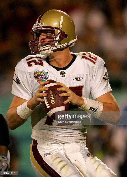 Matt Ryan of the Boston College Eagles looks for a receiver during the Champs Bowl against the Michigan State Spartans at the Citrus Bowl December 28...
