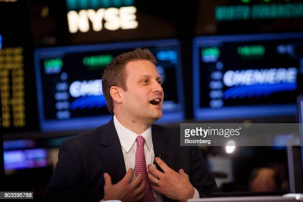 Matt Salzberg cofounder and chief executive officer of Blue Holdings Inc speaks while being interviewed during the company's initial public offering...