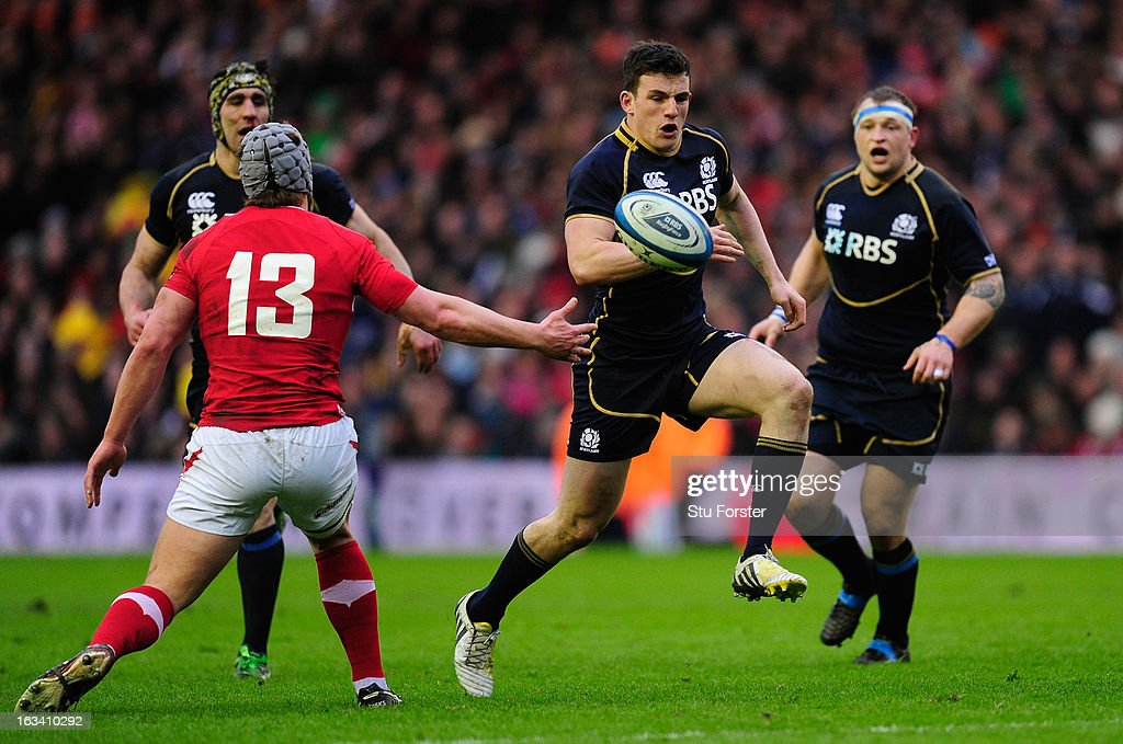 <a gi-track='captionPersonalityLinkClicked' href=/galleries/search?phrase=Matt+Scott+-+Rugby+Union+Player&family=editorial&specificpeople=15066775 ng-click='$event.stopPropagation()'>Matt Scott</a> of Scotland surges forward during the RBS Six Nations match between Scotland and Wales at Murrayfield Stadium on March 9, 2013 in Edinburgh, Scotland.