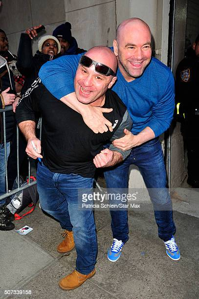 Matt Serra and Dana White are seen on January 28 2016 in New York City