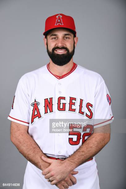 Matt Shoemaker of the Los Angeles Angels poses during Photo Day on Tuesday February 21 2017 at Tempe Diablo Stadium in Tempe Arizona