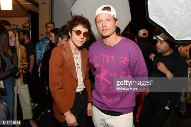 Matt Shultz and Rochambeau cofounder Laurence Chandler pose backstage for Rochambeau fashion show during New York Fashion Week The Shows at Gallery 1...