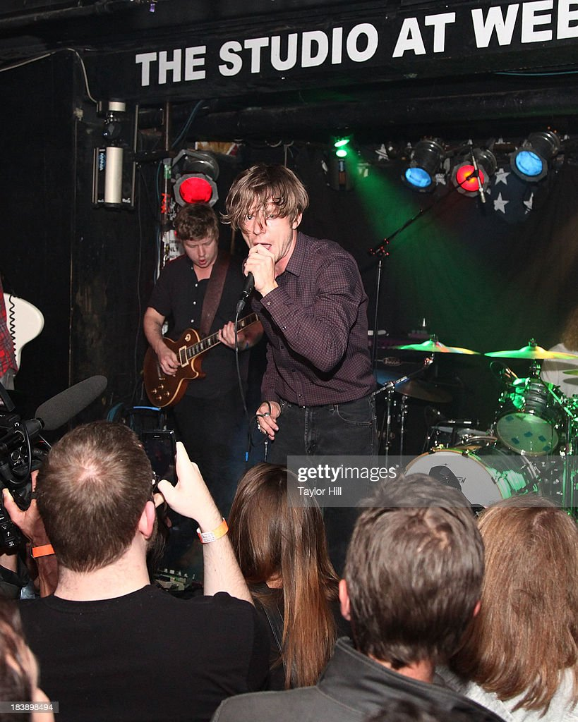 Matt Shultz of Cage the Elephant performs at a private concert for SiriusXM subscribers to celebrate the release of 'Melophobia' at The Studio at Webster Hall on October 9, 2013 in New York City.