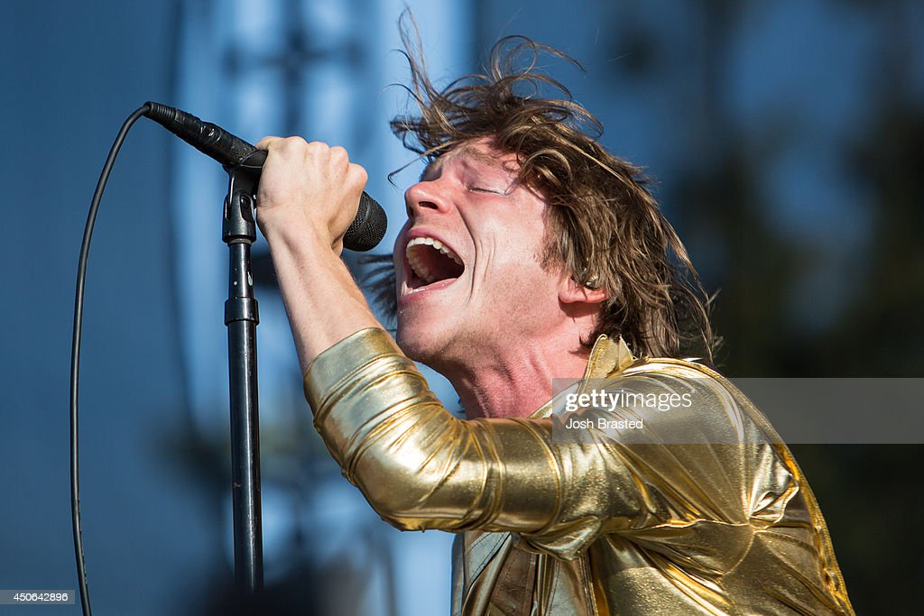Matt Shultz of Cage the Elephant performs during the 2014 Bonnaroo Music & Arts Festival on June 14, 2014 in Manchester, Tennessee.