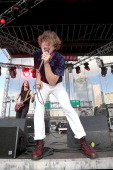 Matt Shultz of Cage The Elephant performs during the Free Press Summer Fest at Eleanor Tinsley Park on June 1 2014 in Houston Texas