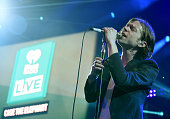 Matt Shultz of Cage The Elephant performs onstage during the iHeartRadio LIVE performance and QA at the iHeartRadio Theater on January 20 2016 in...