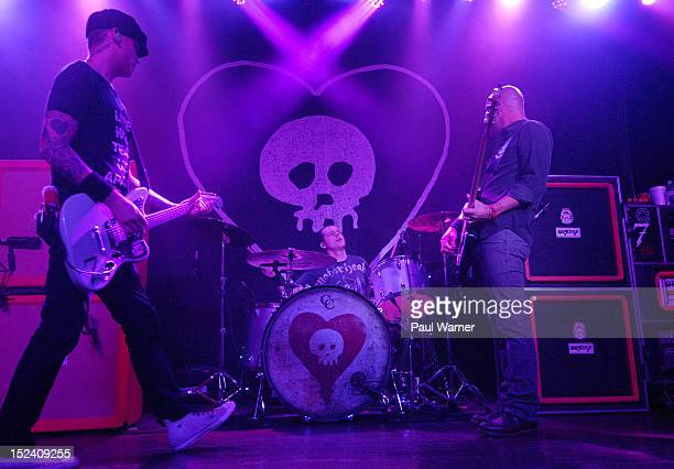 Matt Skiba Derek Grant and Dan Andriano of Alkaline Trio peform at Saint Andrews Hall on September 19 2012 in Detroit Michigan